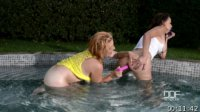 Poolside Pussy Licking - Lesbians Out To Lunch